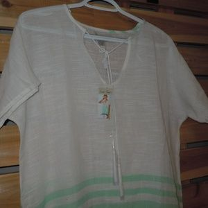 Charlie Paige Tops - Charlie Page tunics - one mint green one berry